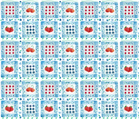 Cherries and Berries Picnic Quilt fabric by countrygarden on Spoonflower - custom fabric