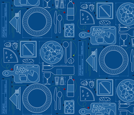 Picnic Blueprint for Bug Access fabric by robinpickens on Spoonflower - custom fabric