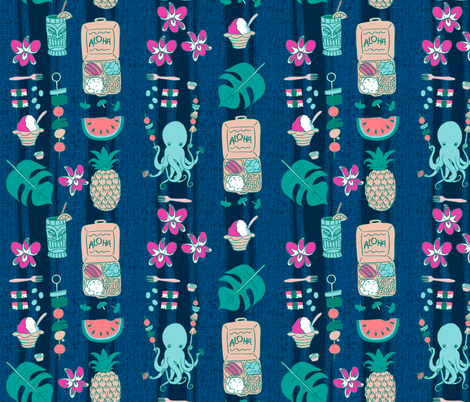 Tako-san's Maui Picnic Night fabric by aimee on Spoonflower - custom fabric