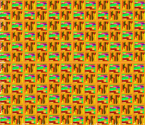 Abstract kente fabric by scifiwritir on Spoonflower - custom fabric