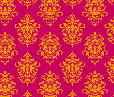 indian_damask_i fabric by juneblossom on Spoonflower - custom fabric