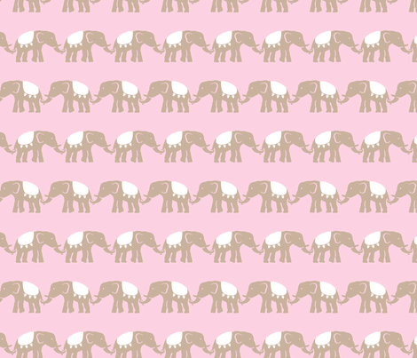 elephant_baby_girl_11_sm fabric by juneblossom on Spoonflower - custom fabric