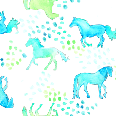 Horse of Many Colors fabric by emilysanford on Spoonflower - custom fabric