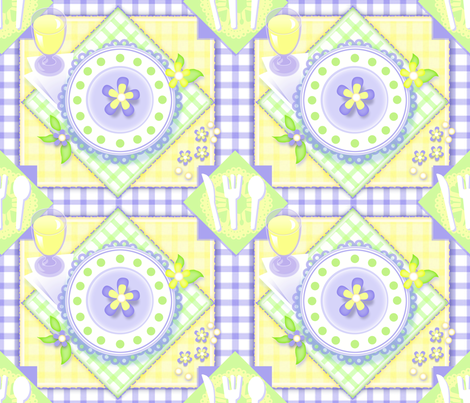 Sunny Picnic fabric by murals2go on Spoonflower - custom fabric