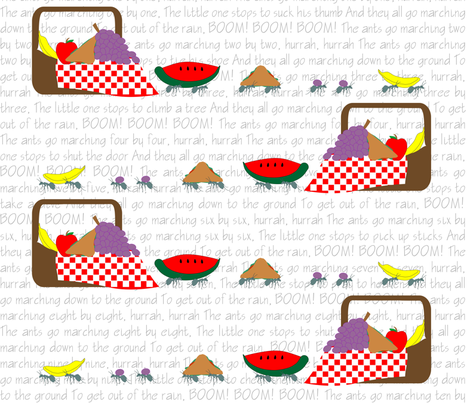 Summertime_is_for_Picnics fabric by rachd on Spoonflower - custom fabric