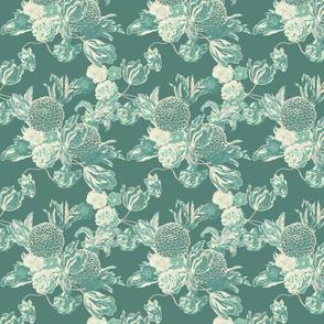 mid century modern floral ~ Hummingbird ~ medium