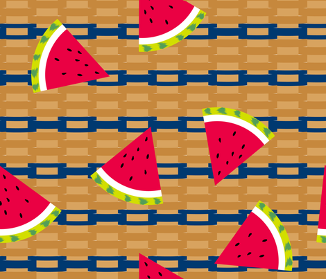 Under Watermelon Basket Weaving 101 fabric by dahbeedo on Spoonflower - custom fabric