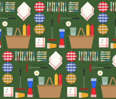 picnic_perfect fabric by cbyc_studio on Spoonflower - custom fabric