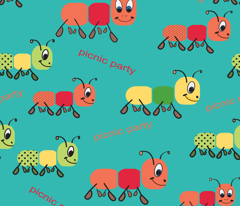 Ants Picnic Party fabric by maggiedee on Spoonflower - custom fabric