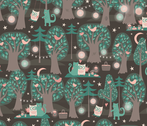 By the Light of the Moon fabric by jennartdesigns on Spoonflower - custom fabric