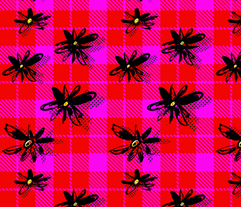 EllieFidler_Plaid_Daisies fabric by ellieshania on Spoonflower - custom fabric