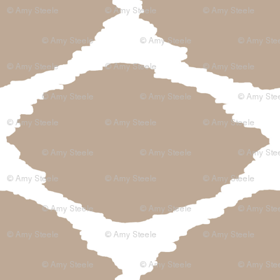 Oval Ikat in Greige