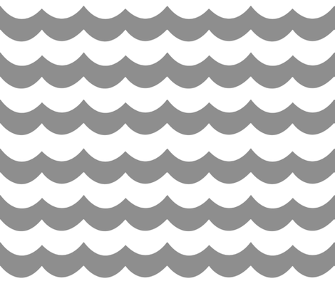 Chevron Waves in Gray fabric by willowlanetextiles on Spoonflower - custom fabric