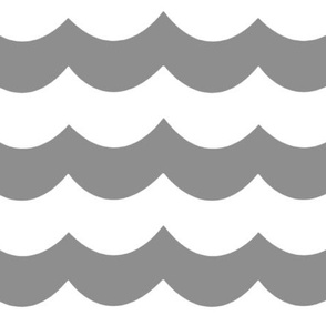 Chevron Waves in Gray