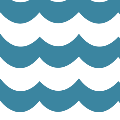 Chevron waves in Blue Green fabric by sparrowsong on Spoonflower - custom fabric