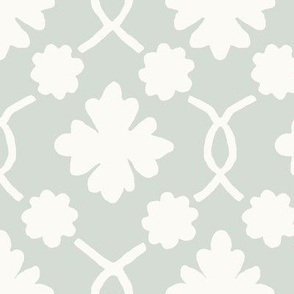 Spa Floral Trellis