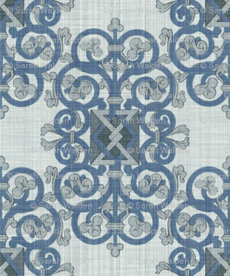 Celtic Knot ~ Blue Linen