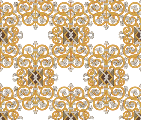 Celtic Knot ~ Gold and Silver fabric by peacoquettedesigns on Spoonflower - custom fabric