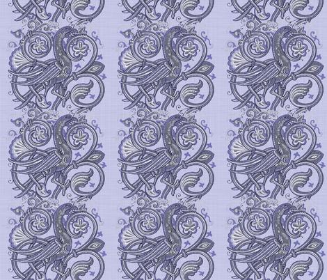 Celtic Bird ~ Blue Linen