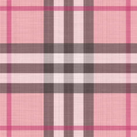 Pink of Perfection Plaid ~ Linen Effect fabric by peacoquettedesigns on Spoonflower - custom fabric