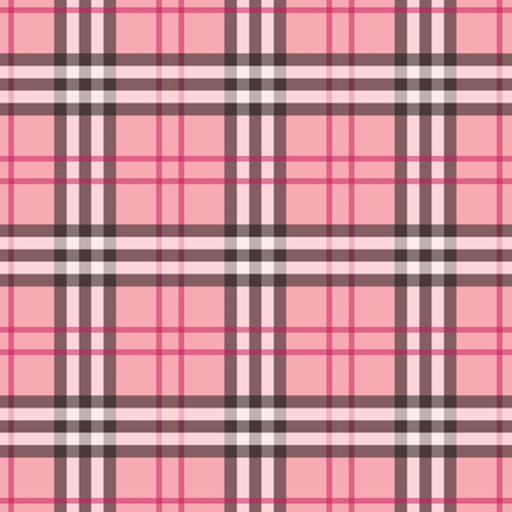 Pink of Perfection Plaid fabric by peacoquettedesigns on Spoonflower - custom fabric