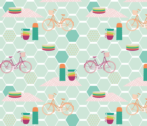 A_Mod_Picnic fabric by mrshervi on Spoonflower - custom fabric