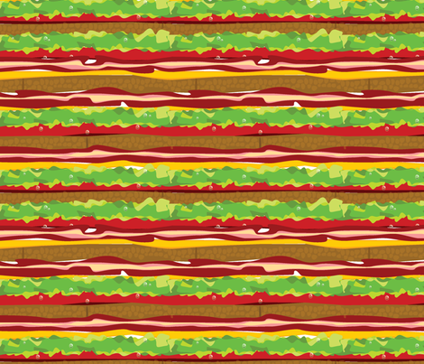 Sandwich Stripes fabric by ravenous on Spoonflower - custom fabric