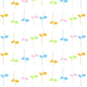 Leaves in Pastels