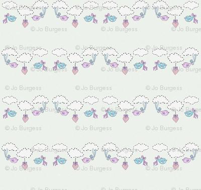 Bessies Blue Balloon - birds blue