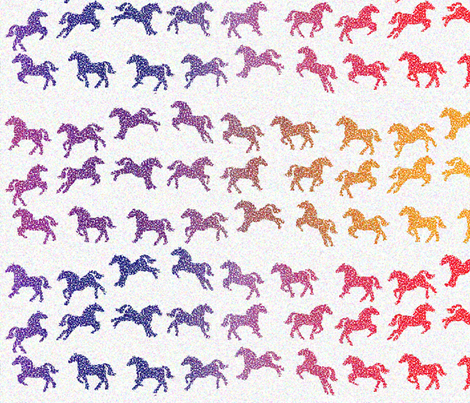 The horses of OZ fabric by topfrog56 on Spoonflower - custom fabric