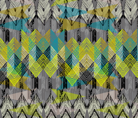 ARROW NIGHT fabric by pattern_state on Spoonflower - custom fabric
