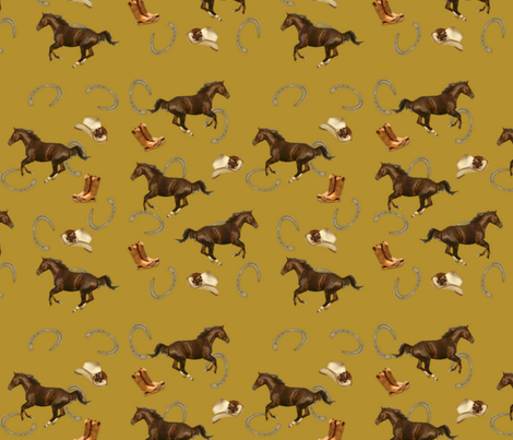 Horses-ed-ed fabric by hmilwicz on Spoonflower - custom fabric