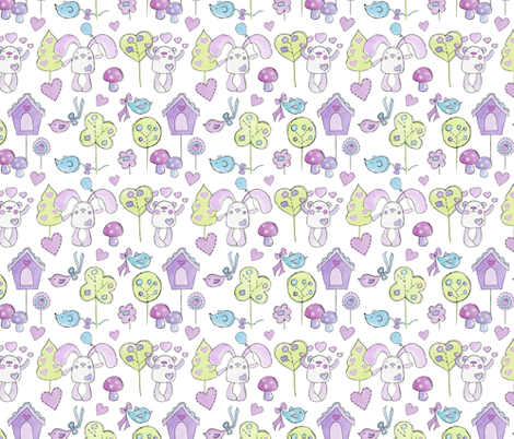 Bessie and Barnaby - busy fabric by uzumakijo on Spoonflower - custom fabric