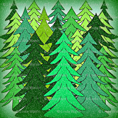 Evergreen Trees2  Fabric