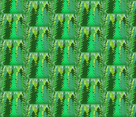 Evergreen Trees2  Fabric fabric by lworiginals on Spoonflower - custom fabric