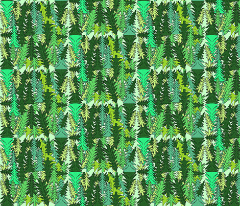 Evergreen Trees Fabric fabric by lworiginals on Spoonflower - custom fabric