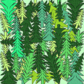 Evergreen Trees Fabric