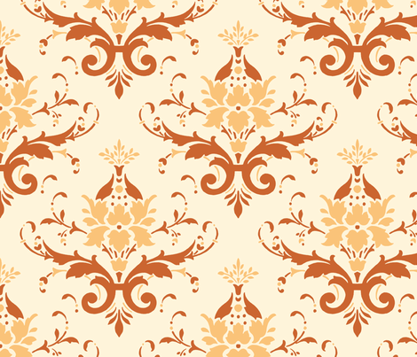 Victorian Flourish (orange)