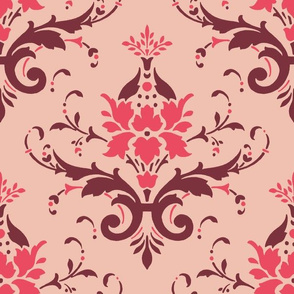 Victorian Flourish (red)