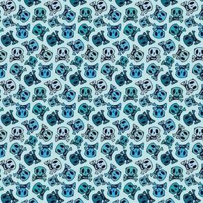 skulls on mint small size
