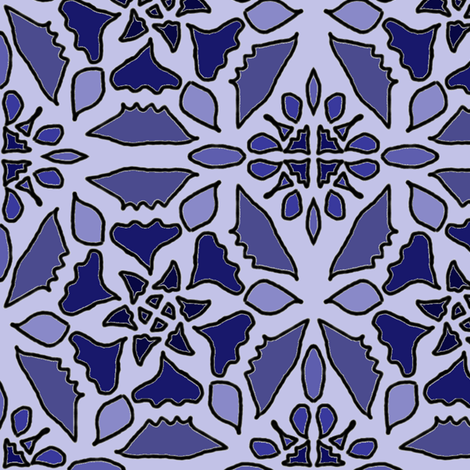 Blue Delft fabric by ravynscache on Spoonflower - custom fabric
