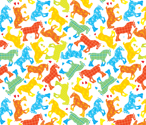 Colourful clydesdale fabric by ebygomm on Spoonflower - custom fabric