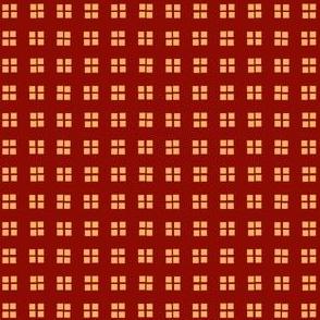 block print pompeiian red and chai