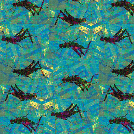Cricket Batik - aqua & multi-colored fabric by materialsgirl on Spoonflower - custom fabric