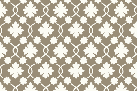Mushroom Floral Trellis fabric by sparrowsong on Spoonflower - custom fabric