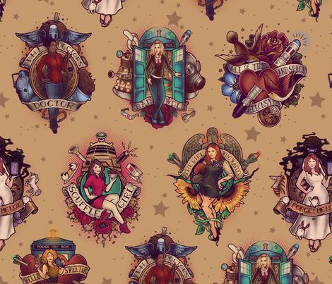 All Those Bright and Shining Companions fabric by meganlara on Spoonflower - custom fabric
