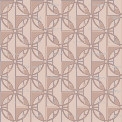 Sophisticated Beige Deco Circles Large © Gingezel™ 2013