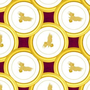 gold eagle plate