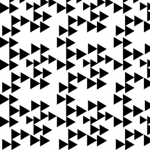 Black Geometric Triangle Arrows