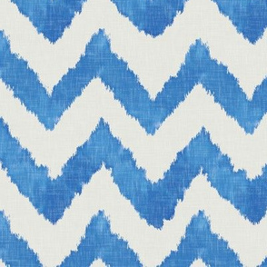 Pool and Linen Watercolor Ikat Chevron